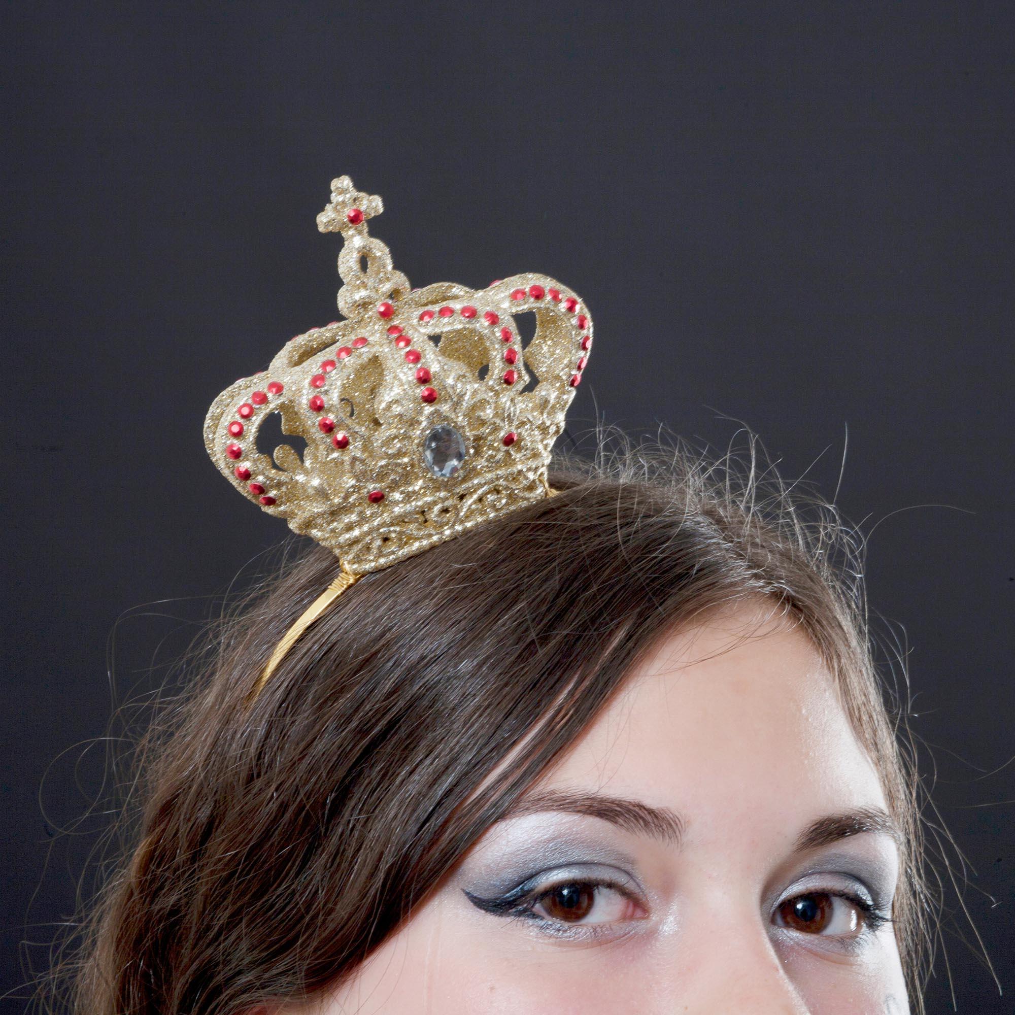 queen of hearts mini crown fascinator  theheadonista